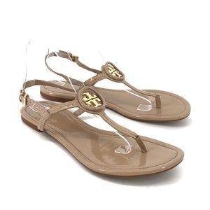 Tory Burch Dillan Patent Leather Thong Sandals